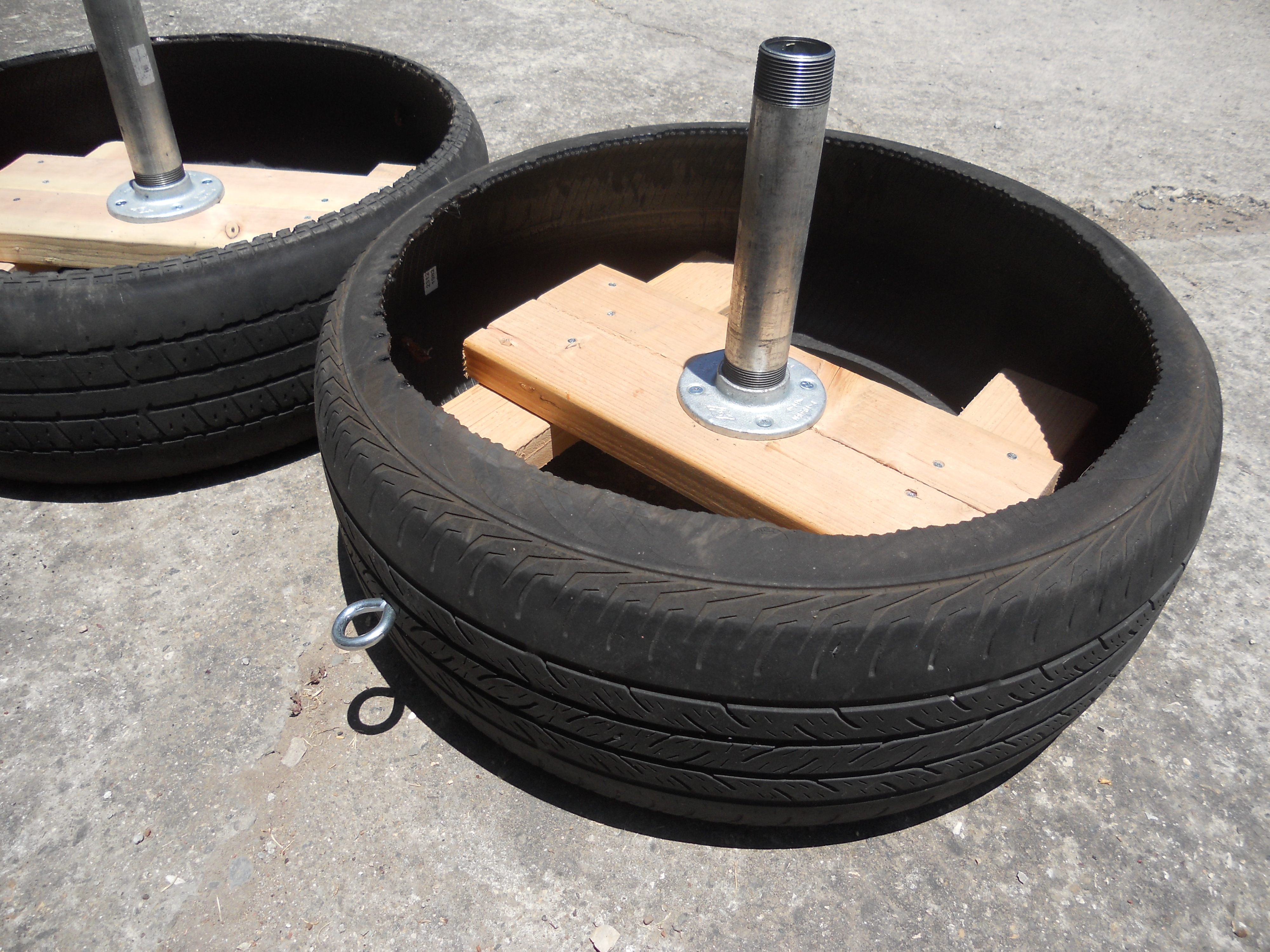 Tire sled coach goodin Things to make out of old tires